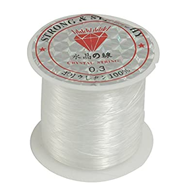 Uxcell a12052100ux0108 Nylon Fisherman JEWERLY Maker thread 0.3mm Dia Fishing Line Spool 17 Lbs clear by Dragonmarts - BISS