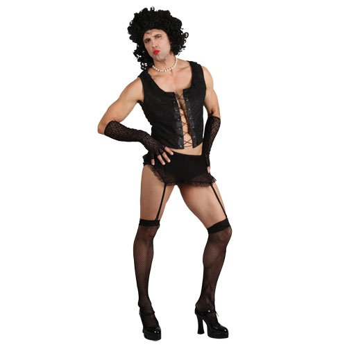 Fancy Rocky Horror Kostüm Dress - Funny Rock Guy with Wig (L) Fancy Dress Stag Costume