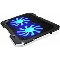 TopMate 302 - Base de refrigeración para Ordenador portatil de 12 a 15,6 Pulgadas con Puerto USB, 2 Ventiladores 1000 RPM, (Negro)