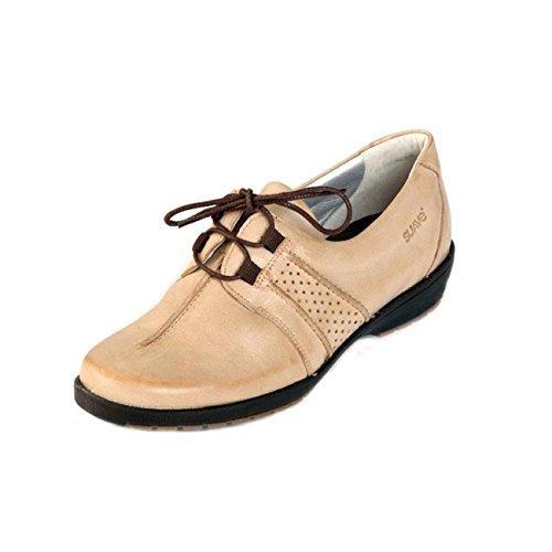 Suave , Chaussures de ville à lacets pour femme Beige