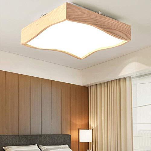 WHKZH Fernbedienung Dimmen Versprechen Gürtel Rechteckige LED Deckenleuchte Modern Easy für Lounge Remote Master Bedroom,Neutrales Licht-42 * 42 * 10cm -
