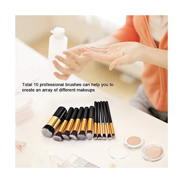 Anself – Set de brochas profesionales para maquillaje kit 24 piezas + bolsa, color negro