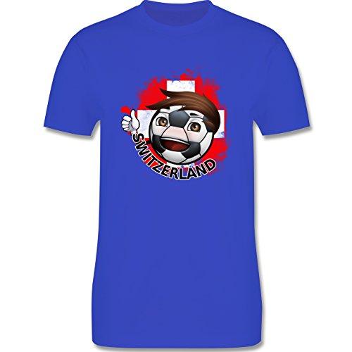 EM 2016 - Frankreich - Fußballjunge Schweiz - Herren Premium T-Shirt Royalblau