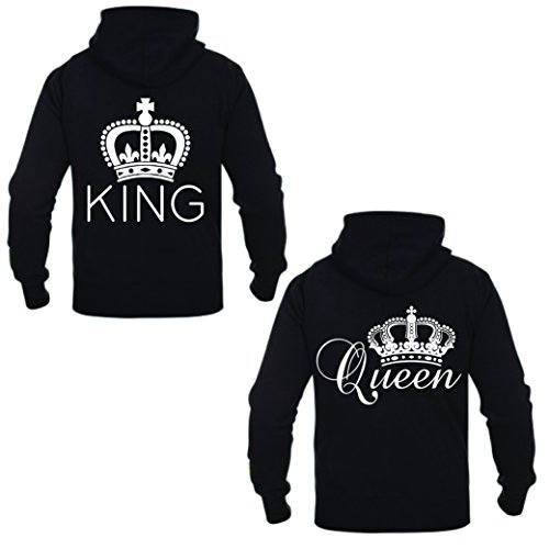 Coppia Di Felpe King & Queen Modern Nero