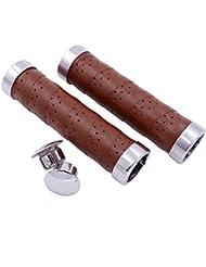 kingou Design ergonomique en cuir Grip pour guidon pour vélo/pignon fixe/VTT/vélo pliable double barre avec grip