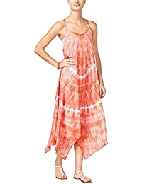 8672efdb85d01 RAVIYA Women's Handkerchief Maxi Dress Swimsuit Cover-Up Coral (S)