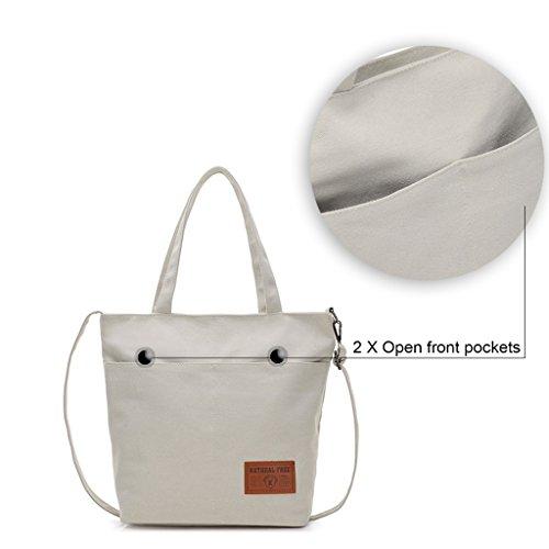 Donne Tela Borse Tote / Borse a tracolla / Retro Totes / sacchetto del messaggero / sacchetto di spalla Grigio