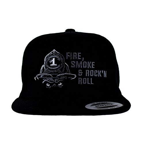 Firefighter Snapback Cap | FIRE Smoke & Rock´n ROLL weiß Einheitsgröße verstellbar