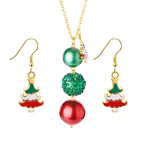 Accessorisingg Christmas Special Pendant and Earrings Set [12 Varients]