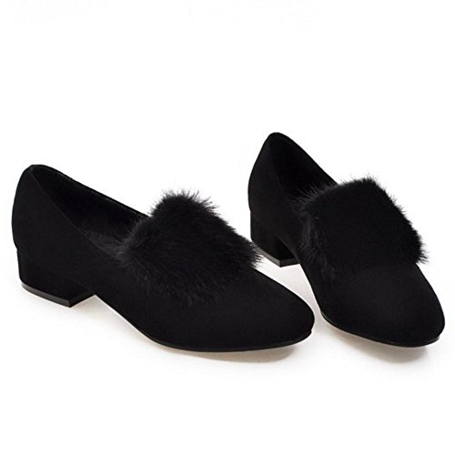 Taoffen Femme Automne Chaussures Pull On Black