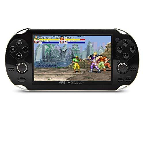 CZT 4.3 pulgadas consola de video portátil de 8GB 64Bit Consola de videojuegos incorporada 1200 juegos no repetitivos Soporte para Arcade NEOGEO/CPS/FC/NES/SFC/SNES/GB/GBC/GBA/SMC/SMD/SEGA Juegos MP3 MP5 Player Support Ebook Camera