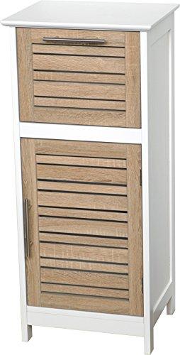 Tendance–Estocolmo tablero DM armario puerta Plus 1cajón en la parte superior, madera, blanco/roble