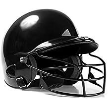 HUZHAO Casco de béisbol golpeó el Casco Casco de béisbol binaural Desgaste máscara Escudo Cabeza Protector