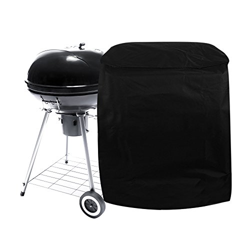 Homgaty Round BBQ Grill Cover,Outdoor Waterproof Rain Proof Barbecue Protection Cover Garden Patio Furniture Shelter �With Storage Bag�(77x58cm)