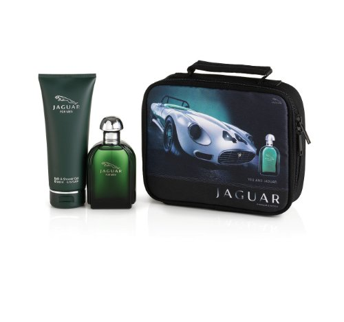 Jaguar Fragrances For Men homme/men, Geschenkset 3-teilig (Eau de Toilette 100 ml, Shower Gel 200 ml und Beutel)