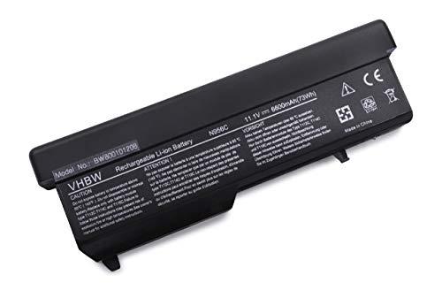 vhbw Akku für Dell Vostro 1310, 1320, 1510, 1520, 2510 Notebook Laptop ersetzt 312-0724, 312-0725, 312-0859, 312-0922 - (Li-Ion, 6600mAh, 11.1V)