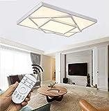 HS-Lighting LED Deckenleuchte 48W Deckenlampe dimmbar mit Fernbedienung Beleuchtung für Wohnzimmer Schlafzimmer Kinderzimmer Küche HS6906C-48W-Weiss