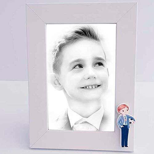 Hochzeitseinladungen, Kommunion-BAUTIZO Set mit 6 Bilderrahmen oder Portraitrahmen aus Holz mit Kinderbild mit Ball, ideal als Bilderrahmen zur Erstkommunion. ()