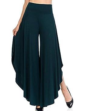 Pantalones yoga Mujer Pantalones casual cintura alta Bloomers cómodos suaves Pantalones de harén sueltos Split...