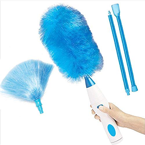 Alliebe spin Powered Duster Powder Wand Feathered Battery Powered Duster Electricity rotating action over 250 RPM Electric Duster