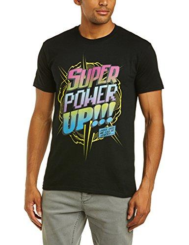 Brands In Limited Herren T-Shirt, Einfarbig Schwarz - Schwarz