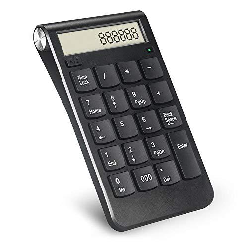 19-Tasten kabellose Numerische Pad Tastatur, 2,4G USB Ultra dünn Ziffernblock mit Empfänger für Laptop, Desktop, PC -