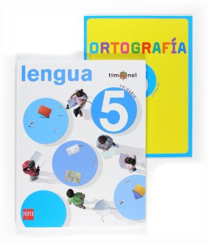 Portada del libro Lengua. 5 Primaria. Timonel - 9788467532302