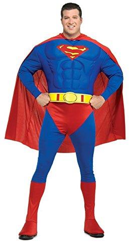 Superman Deluxe Muskel Kostüm, (Deluxe Superman Herren Of Kostüme Steel Man)