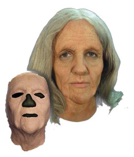ProthesenAbzieher¨CAlte Frau Maske Halloween Kostueme Maske Gesicht Maske Over-the-Head-Maske Kostuem Stuetze Scary Creepy Schreckliche Maske Latex Maske fuer Maskerade Make-up Party