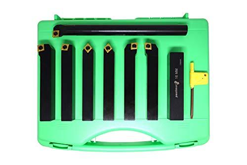 PAULIMOT Drehstahl-Set mit Wendeplatten, 16 mm, 7-teilig mit Bohrstange
