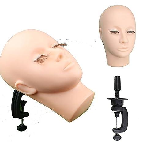 eseewigs Weiche Haut Massage und Make-up Praxis Mannequin Gesicht für College und Profis