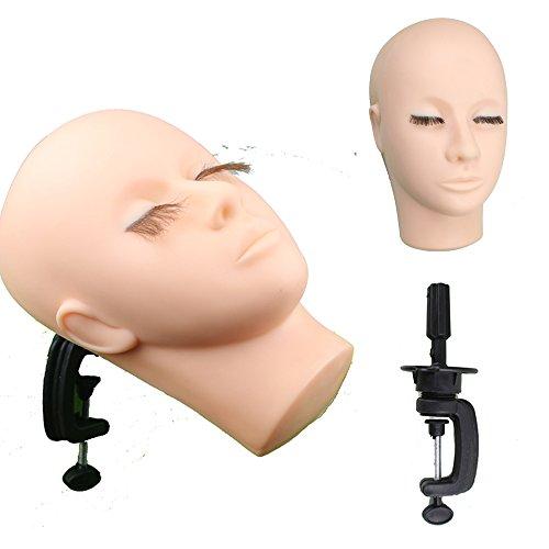 eseewigs Weiche Haut Massage und Make-up Praxis Mannequin Gesicht für College und (Make Up Für Verkauf)