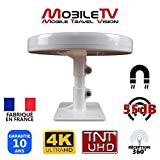 ANTENNE TV MAGNETIQUE pour Camion Camping Car Fourgon 55dB TNT TNTUHD 4K OMNIDIRECTIONNELLE + Pied AIMANTE