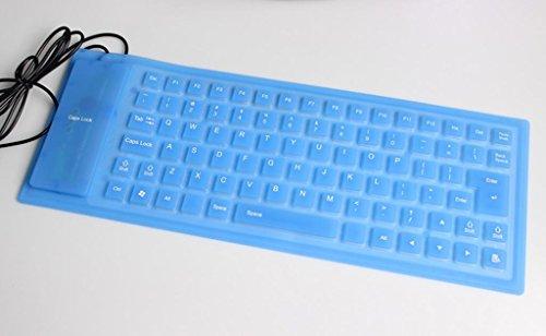 HETAO Kreative Persönlichkeit 85 Schlüssel USB Faltung Tastatur Silikon wasserdicht und staubdicht Soft Keyboard Jugendschutzfunktion und Mac Multi-Color Optional , 85 key blue Spieltastatur (85-key Usb)