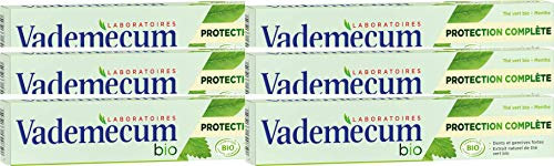 Vademecum - Dentifrice Bio - Protection Complète Tube 75 ml - Pack de 6