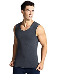YANWANG Mens Underwear térmica Tops chaleco sin mangas