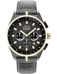 Cerruti 1881 CRA150SUG13BK Reloj de pulsera para hombre