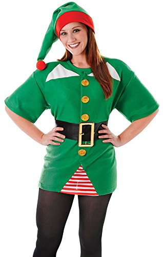 Kostüme Erwachsenen Jolly Elf (Jolly Elf Costume Kit)