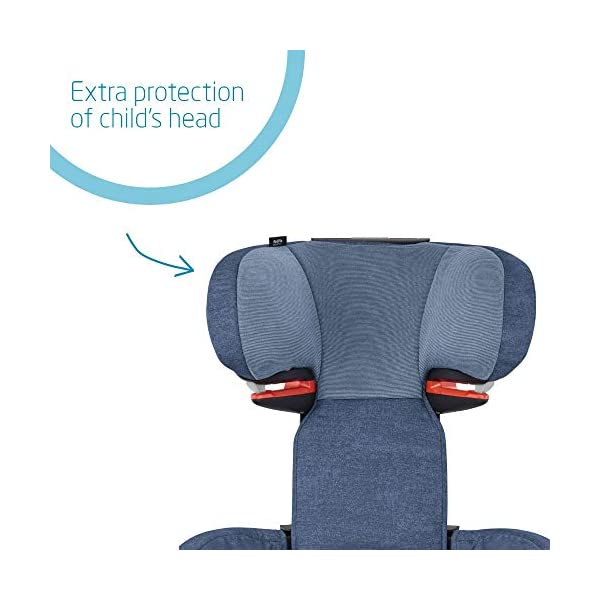 Maxi-Cosi RodiFix AirProtect Child Car Seat, ISOFIX Booster Seat, Extra Protection, 3.5-12 Years, 15-36 kg, Nomad Blue Maxi-Cosi Booster car seat for children from 15 to 36 kg (3.5 to 12 years) Grows along with your child thanks to the easy headrest and backrest adjustment from the top Patented AirProtect technology for extra protection of child's head 3