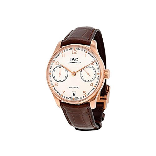 iwc-mens-42mm-brown-leather-band-gold-plated-case-automatic-watch-iw500701