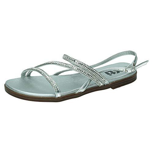 XTI - Sandalias Tiras Cruzadas para Mujer Color: Plata Talla: 41