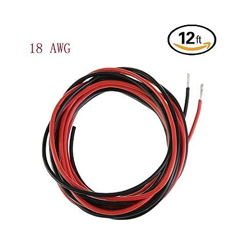 Ycnk 18AWG Calibre câble silicone 3,7m souple et flexible en