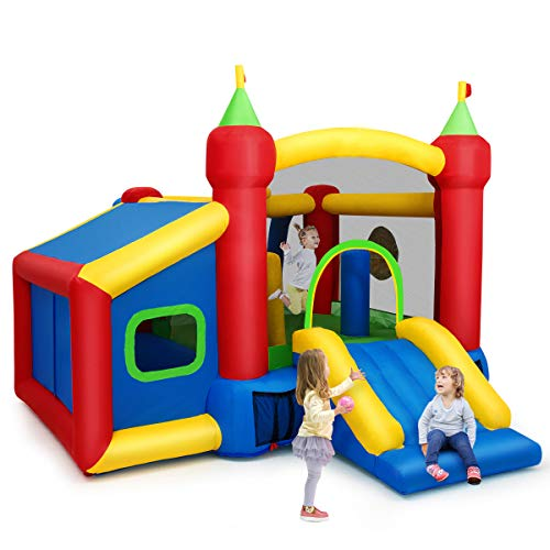 COSTWAY Castillo Hinchable para Niños 380 x 305 x 215 cm Infantil...