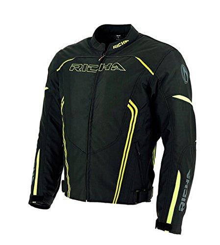 Preisvergleich Produktbild Richa Gotham Textil kurz Motorrad Motorrad Jacke schwarz/Fluo