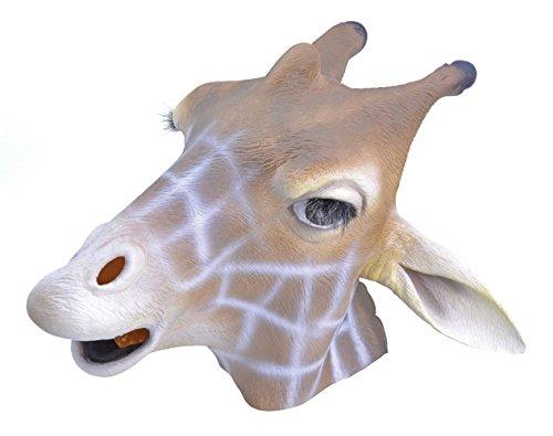 7Giraffe Overhead Maske (One Size) (Giraffe Latex Maske)
