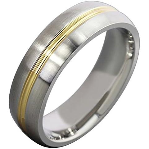 Bande Acciaio inox classico cerchio rotondo da uomo di (14k Diamante Tiffany Anello Setting)