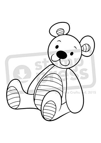 Teddybär-stempel (A7 'Teddybär' Stempel (Unmontiert) (SP00002585))
