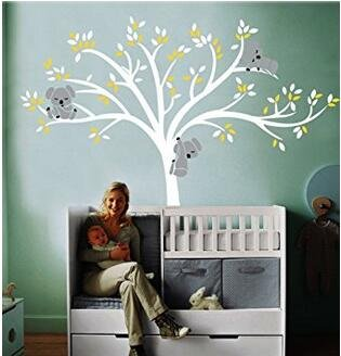 Koala Baum Aufkleber Wandaufkleber-Wandaufkleber Wandsticker Wandkunst kinderzimmer (Baum Koala)