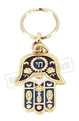 Arredamento Body-Soul-n-Spirit key chain Portachiavi Rosso Stella di David e MENORÀ Idea Regalo amuleto Portafortuna Ingresso