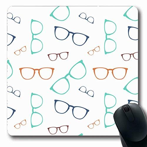 Luancrop Mousepads Tragen Sie Brillen Muster Brillen Cool Elegance Graphic Design Schutz rutschfeste Gaming Mouse Pad Gummi-Matte